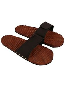 Brown Slippers Foot Care Wooden