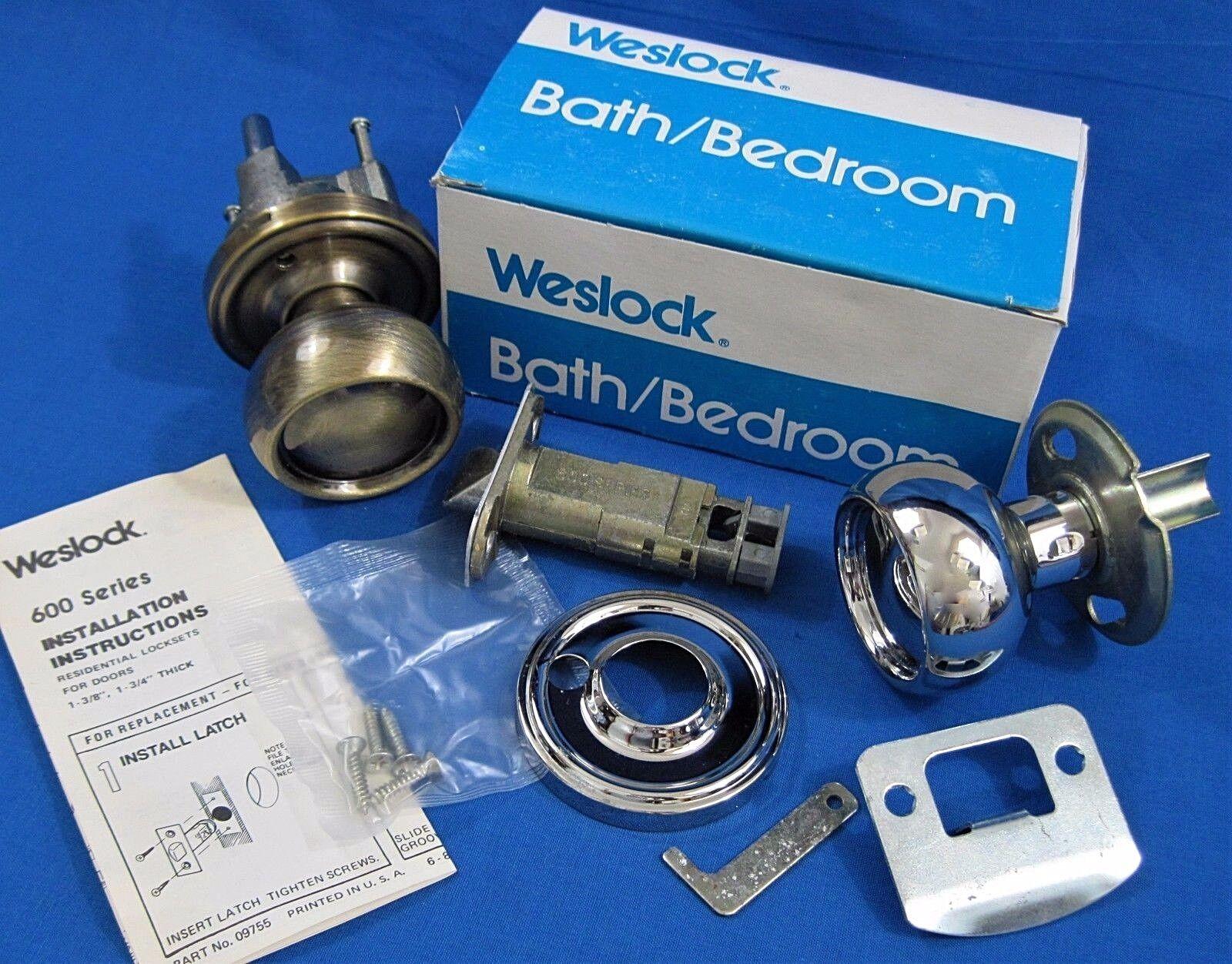 Weslock 610 Impresa bright brass privacy lock