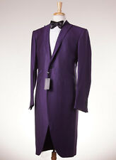 NWT $2995 OZWALD BOATENG Purple Jacquard Frock Coat-Style Tuxedo Slim 42 R Suit