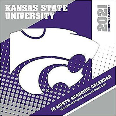 Ksu Academic Calendar 2021 Kansas State Wildcats 2021 12x12 Team Wall Calendar [Unknown