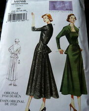 Lovely Dress Vogue Sewing Pattern 6-8-10-12 Uncut