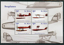 St Kitts 2016 MNH Seaplanes Savoia Marchetti 4v M/S Planes Aviation Stamps