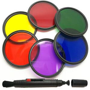 Full-Color-Lens-Filter-6-IN-1-55-58-62-67-72-77-82mm-For-DSLR-SLR-nikon-Camera