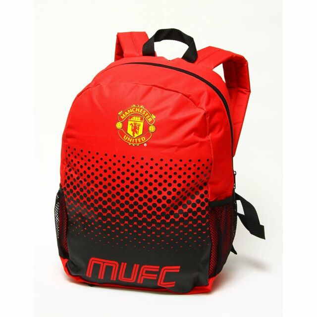 Manchester United Fc Backpack School Bag Holdal Fade Man Utd Rucksack 4319ad20cc1ac