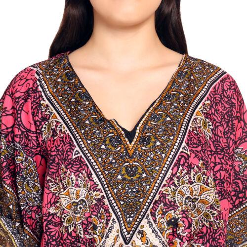 Gamla Long Bohemian Dresses Kaftan Night Wear Casual Dress