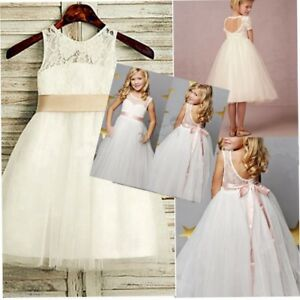 Girl-Communion-Party-Prom-Princess-Pageant-Bridesmaid-Wedding-Flower-Girls-Dress