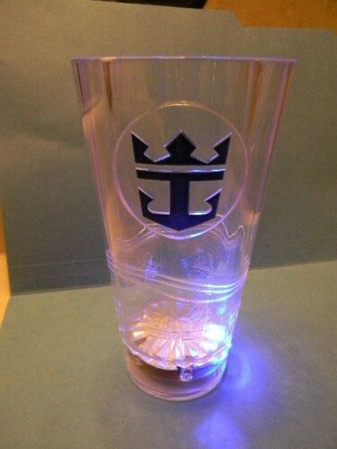 Royal Caribbean International Cruise Line Logo Plastic Tumbler Flashing Lights