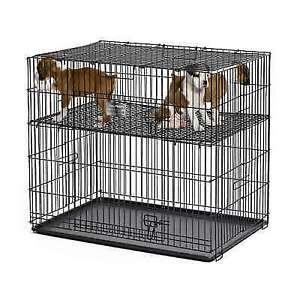Midwest Metal Dog Supplies Puppy Playpen With Plastic Pan And 1 Floor Grid 24 X 36 X 30
