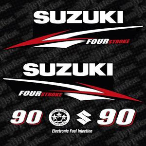 Details About Suzuki 90 Four Stroke Outboard Decal Aufkleber Adesivo Sticker Set