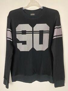 Zara-Man-Men-039-s-Football-College-Black-Sweater-Sz-L-A4-Free-AU-Post