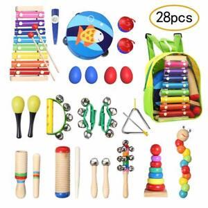 Topersun strumenti musicali per bambini con sacca portaoggetti 28