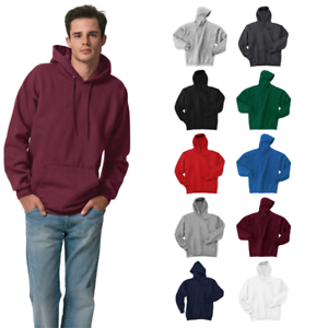 Hanes-F170-Mens-Ultimate-Cotton-Pullover-Hooded-Sweatshirt-Pocketed-Hoodie-Pouch