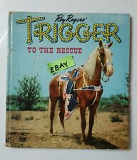 Roy Rogers TRIGGER to the Rescue Higgs 1950 Book Whitman Publishing Racine WI HS