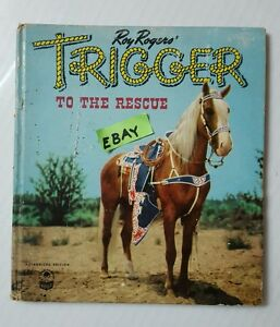 Roy-Rogers-TRIGGER-to-the-Rescue-Higgs-1950-Book-Whitman-Publishing-Racine-WI