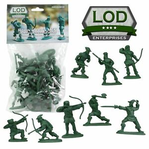 BARZSO-LOD-Robin-Hood-Merrymen-Outlaws-60MM-16-Plastic-Toy-Soldiers-FREE-SHIP