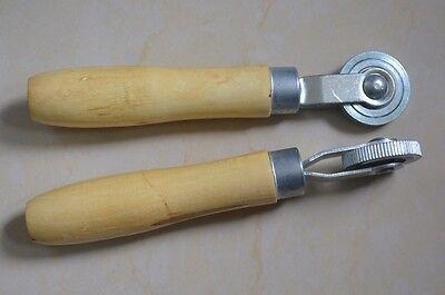 "10 Pcs Ball Bearing Stitcher 2/"" Wheel 1//4/"" Face Wood Handle Tire Patch Stitcher"