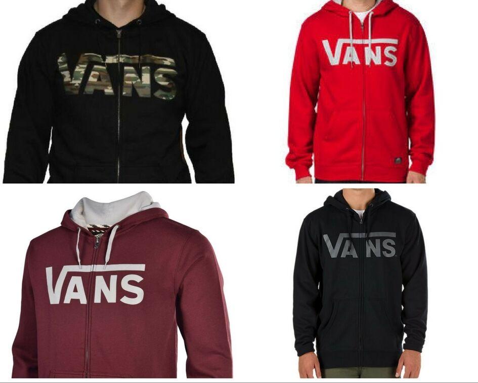 New Vans  Herren Logo Classic Graphic Full Zip Hoodie Hooded Sweatshirt XS-XXL
