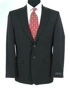 Express-Blazer-38S-Black-Stripe-All-Season-Wool-Jacket-Sport-Coat-Mens-38-S-NWOT