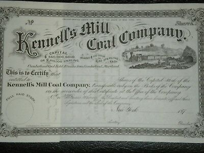 1870/'s Mint !! Kennell/'s Mill  Coal Co