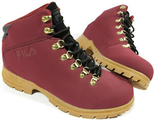 fila burgundy shoes