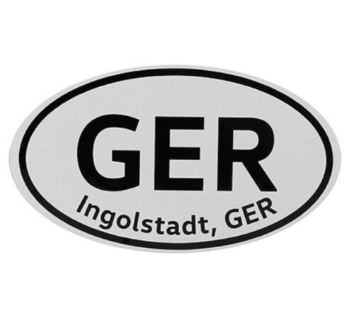 Genuine Audi Country Decal Ingolstadt Germany Bumper Sticker
