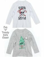 77kids By American Eagle Boys Size 4t 5t Christmas Holiday Tee Shirt U-pick