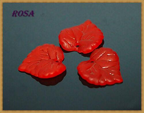 KA acrylique perles gefrostet feuilles différentes couleurs et taille