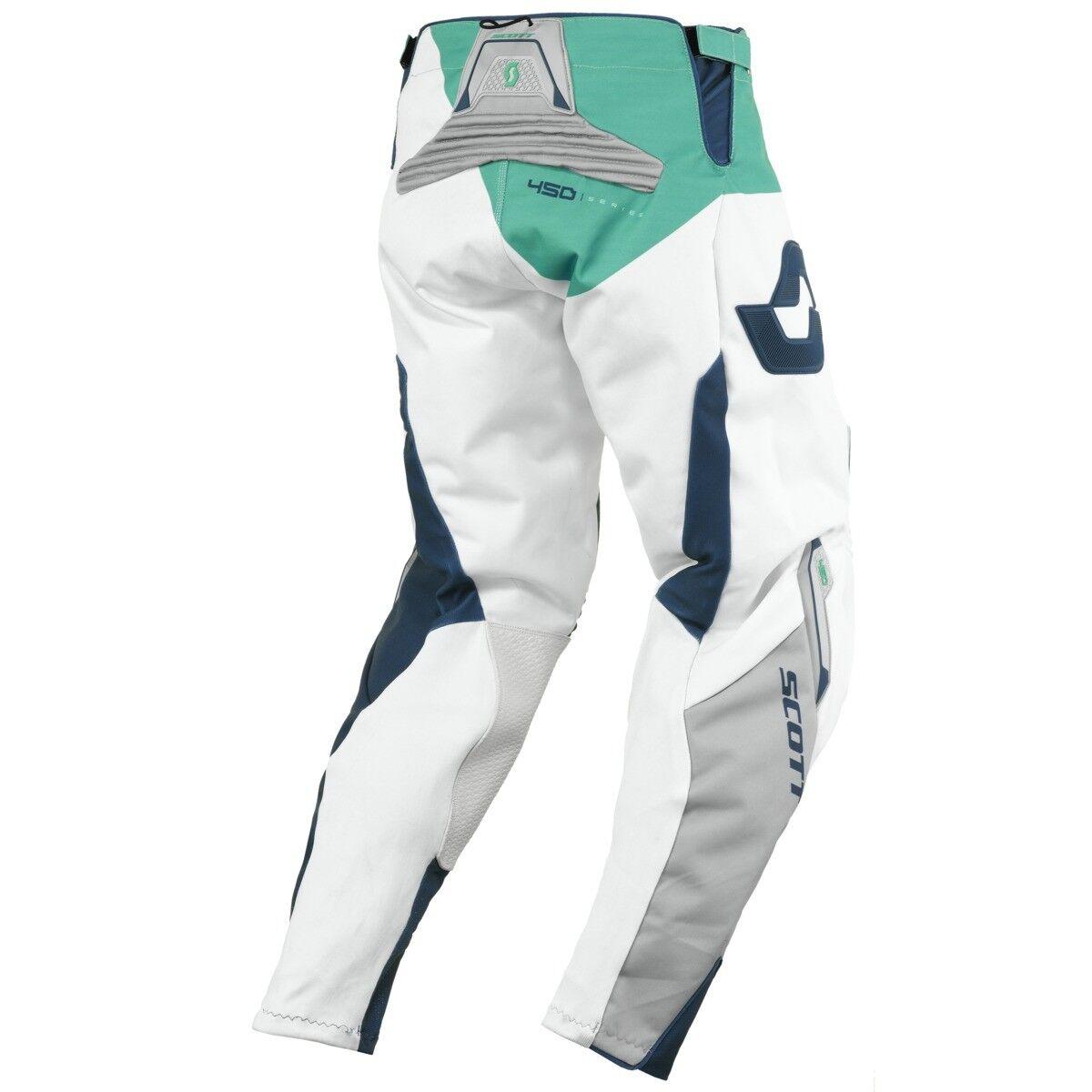 Scott Hose 450 Podium MX Motocross / DH Fahrrad Hose Scott blau/weiß/grün 2016 89f8a5