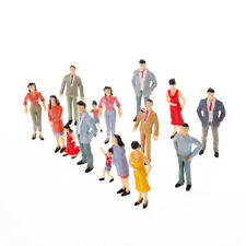 20pcs G Scale 1:25 Painted Seated Poses Model Train Passenger People Figures