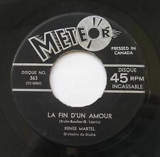 RENEE MARTEL Cette danse /La fin... MEGA RARE FRENCH GIRL CANADA 1965 QUEBEC 45
