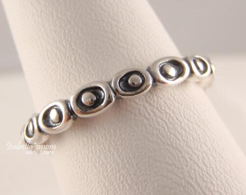 a518af225 ... CELEBRATION 100% Genuine PANDORA Sterling Silver BAND Stackable Ring 9/60  NEW