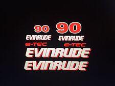 - Evinrude Outboard 8 decal set e-tec decals  marine vinyl
