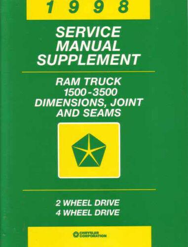 1998 DODGE SHOP MANUAL REPAIR BOOK SERVICE TRUCK RAM PICKUP