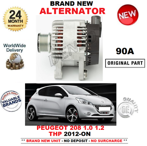 FOR-PEUGEOT-208-HATCHBACK-1-0-1-2-THP-ALTERNATOR-2012-ON-BRAND-NEW-90-AMP-UNIT