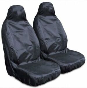 For Vauxhall Mokka Heavy Duty Black Waterproof Car Seat Covers 2 x Fronts
