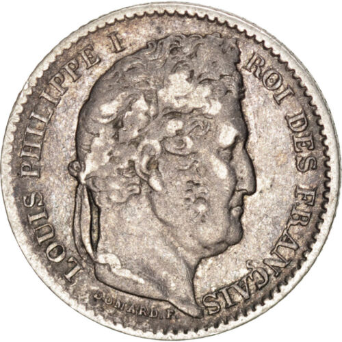 #42992 FRANCE, LouisPhilippe, 25 Centimes, 1845, Lille, KM #755.5, EF4045