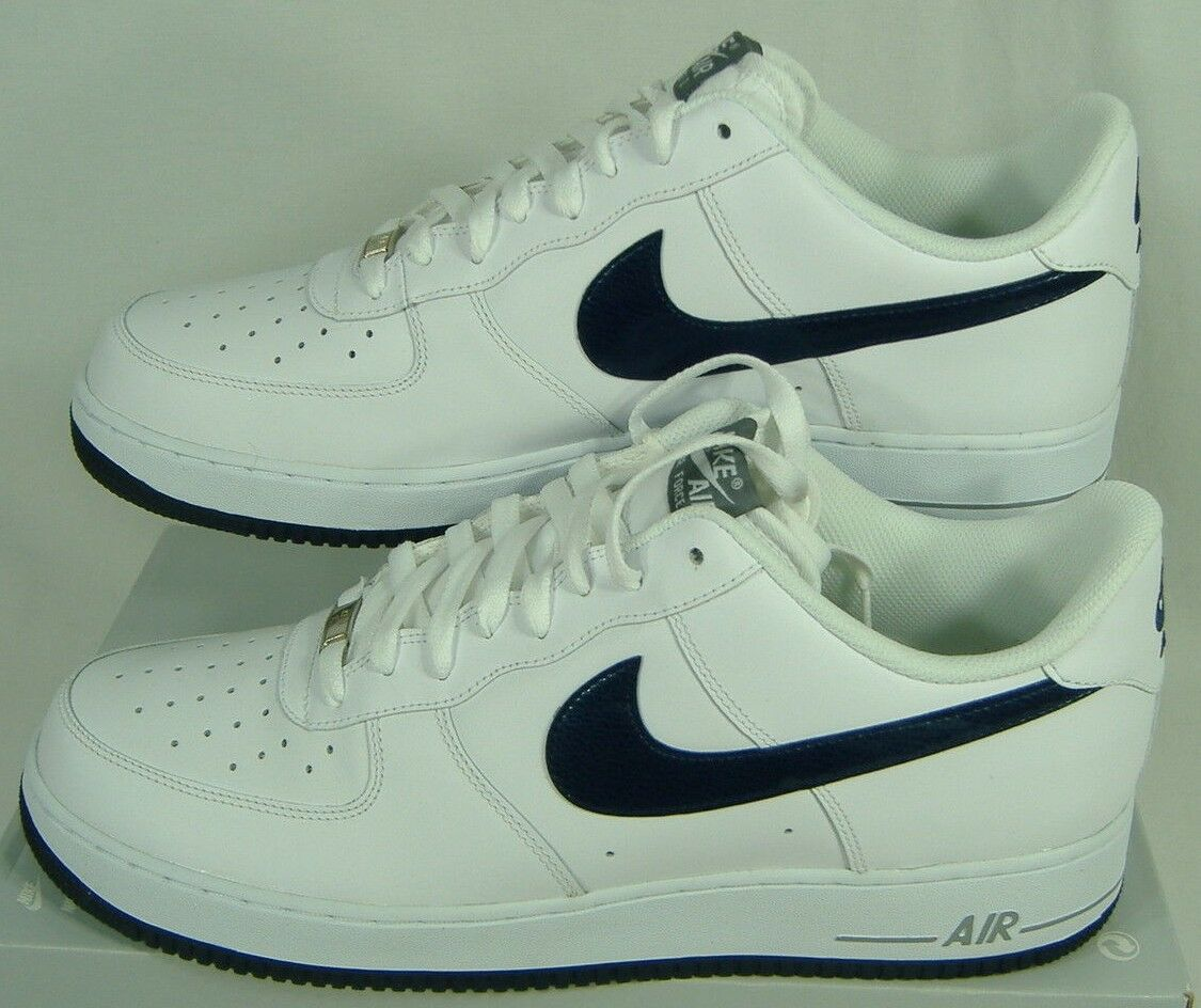 Nuova Uomo 13 nike air force 07 1 bianchi, scarpe di cuoio 88 315122-188 mezzanotte marina