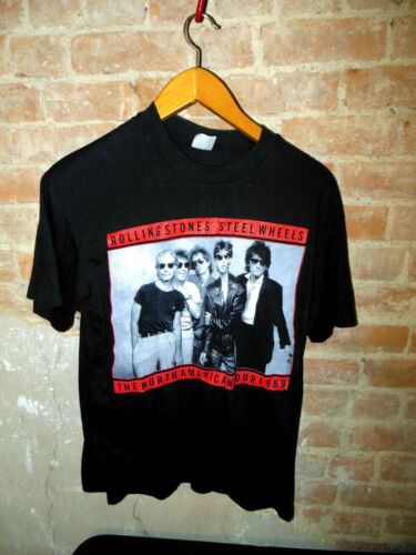 AWESOME RARE 1989 ROLLING STONES STEEL WHEELS CONCERT TOUR SHIRT NICE XLARGE