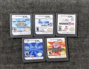 Nintendo-DS-lot-of-5-Games-Brain-Age-2-Mario-amp-Sonic-Wipeout-Bakugan-amp-more