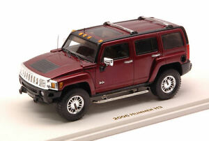 Hummer H3 2006 Sonoma Red Metallic 1:43 Modèle 10132 Luxe