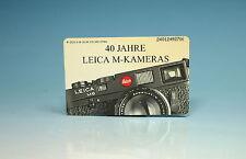 Leica 40 Jahre Leica M Kameras Telefonkarte phone card carte telephonique-100393