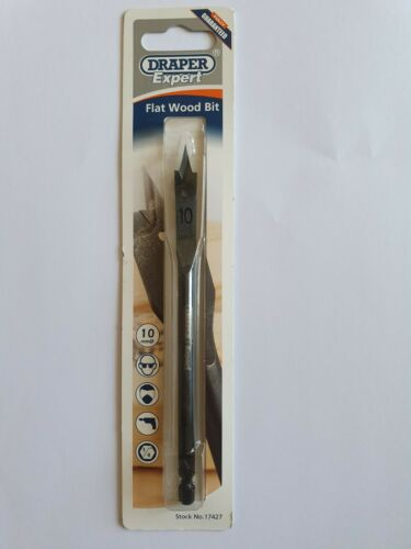 Flat Wood Drill Bits Draper Expert Various sizes