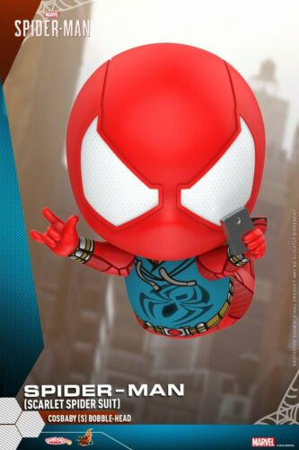 Hot Toys COSBABY Marvel Spider-Man  Mini PVC Figure Red Battle Suit COSB620 Toys