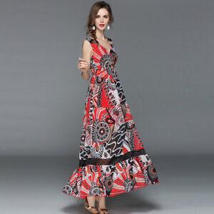 huge discount f151d bb0a6 Dettagli su Elegante vestito abito lungo colorato rosso scampanato slim  morbido 3563