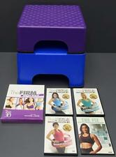 Lot The Firm Fanny Lifter Aerobic Exercise Step Riser Set + 17 Workout DVDs