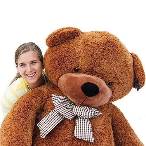 Joyfay®78  Dark marrone Giant Huge Teddy Bear Stuffed Christmas Gift 200cm