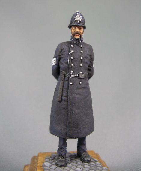 Splata de la policía británica de Londres Pintado soldado de juguete de estaño Pre-orden   Arte