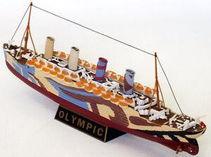 EFE-10005-RMS-OLYMPIC-Dazzle-Mimetica-Modello-Diecast-White-Star-Line-1-1750th