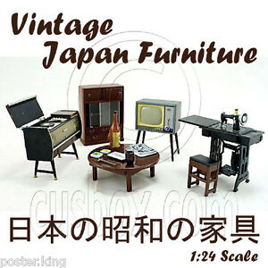 Vintage-Japanese-Japan-w-Magnet-1-25-Doll-039-s-House-Dollhouse-Furniture-Set