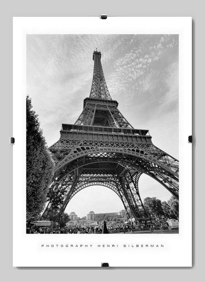 Rahmenloser Bildhalter 40 x 160 cm mit Clips Boston Cliprahmen 160 x 40